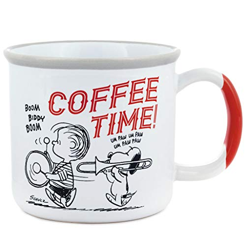 Hallmark Peanuts Coffee Time Bottoms Up Mug, 13.5 oz.