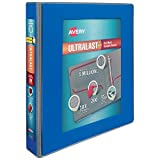 Avery 1.5' Ultralast 3 Ring Binder, One Touch Slant Ring, Holds 8.5' x 11' Paper, 1 Blue Binder (79712)