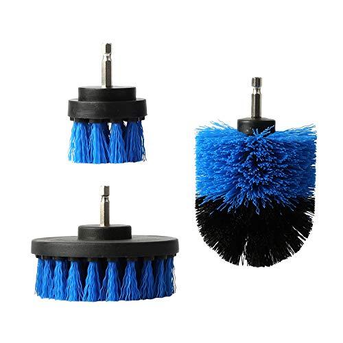 電動掃除用ブラシ ドリル アタッチメントキット バスルーム キッチン 室・浴槽・床・お風呂などの掃除用 隅々まで 手軽 - 3点セット