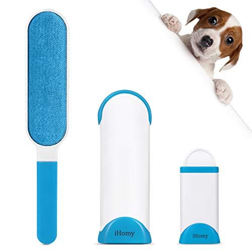 ADORIC Spazzola per peli di Animali Domestici, rimozione dei peli di Animali Domestici con Double Face Elettrostatica
