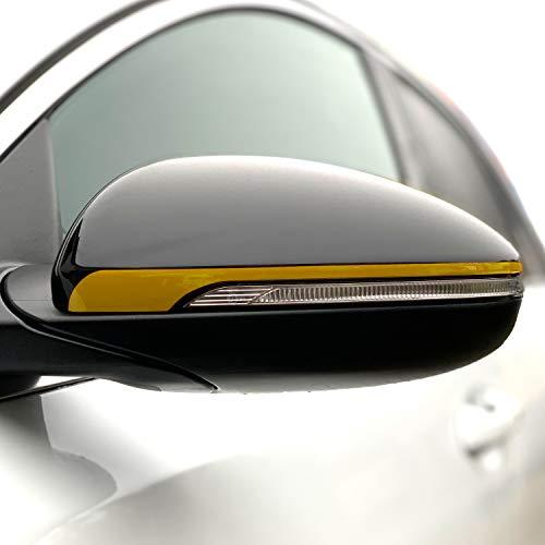 P057 Seitenstreifen Spiegel | Auto | Spiegelaufkleber | Aufkleber | Streifen | Oracal 751C (Gold Metallic, Variante 1)