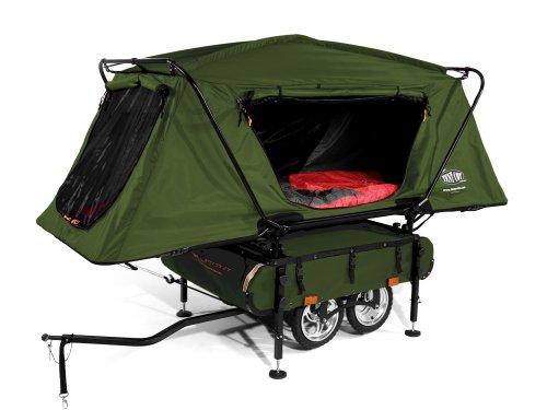 Kamp-Rite Midget Bushtrekka Bicycle Camper Trailer with Oversize Tent Cot