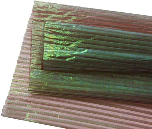 ZXL gepolariseerde schelpdraad, papier voor het omwikkelen van bloemenstrui, gazon, decoratie voor bruiloft, sluier, knutselmateriaal, kunstbloemen (kleur: D, grootte: 50 x 300 cm)