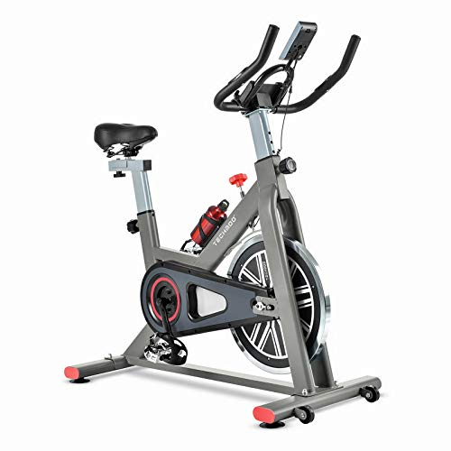 TECHMOO Indoor Exercise Bike Fitness Bicycle Upright Cycling...