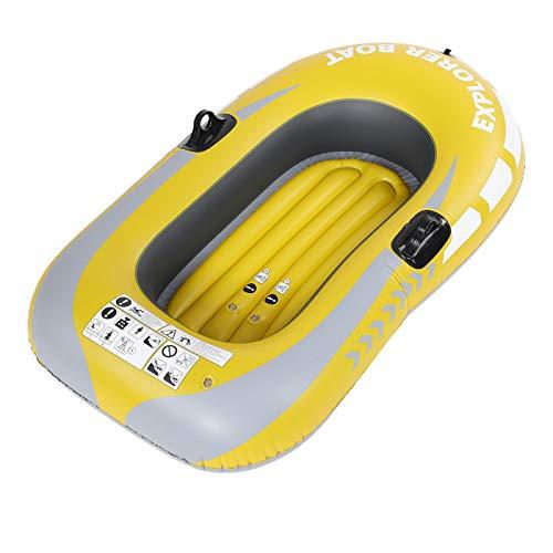 DAUERHAFT Kayak Inflable Barco de Pesca Inflable Resistente al Desgaste, con Dos Soportes de Paleta, para Piscina, Playa, Pesca