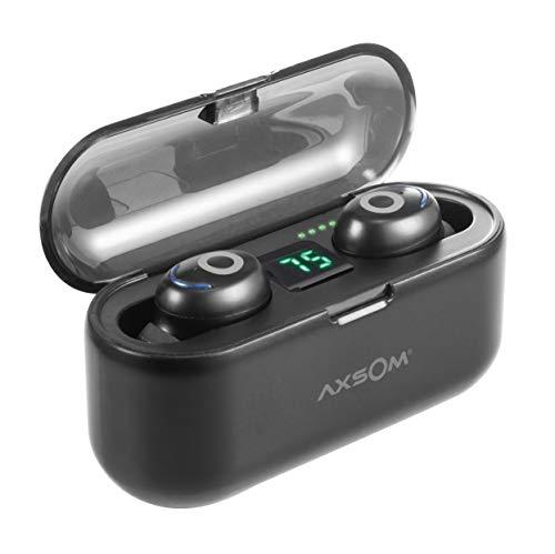 Auriculares Bluetooth, GEMINUS II Auriculares inalámbricos Bluetooth, Power Bank 1200mAh, Auricular Mini Twins In-Ear Auriculares con Estuche de Carga para iPhone y Android Pantalla LED Digital