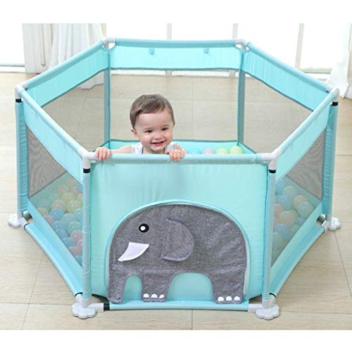 ZTMN Baby Fence Fence Kids Play Fence Infant Indoor Toddler Safety Crawling Mat Home (Couleur: Éléphant)