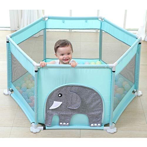 WJSW Baby-Zaun-Zaun-Kinderspiel-Zaun-Säuglingsinnenkleinkind-Sicherheits-kriechende Matte nach Hause (Farbe: Elefant)