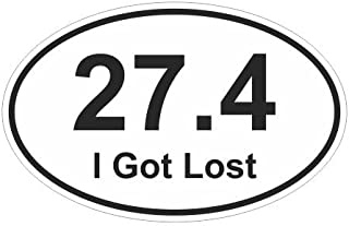 JS Artworks 27.4 i got Lost Oval Style 2 Runner Race Marathon Active Healthy Sports Vinyl Sticker Decal