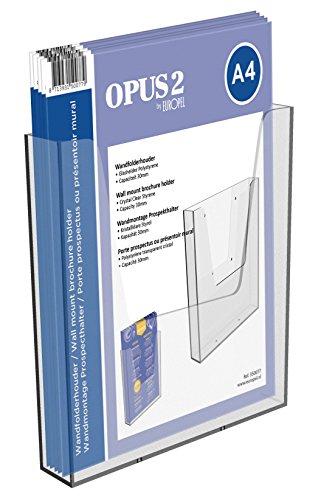 OPUS 2 350077 - Porta-folletos de pared, Plástico sólido, para A4