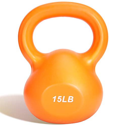 wireless future charger Kettlebell Weights,15BL Kettlebell Workout,Odorless Design Ergonomic Comfort Grip - Core and Strength Training Exercise……