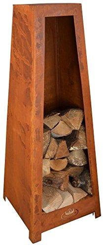 Esschert Design Holzlagerturm, 38 x 38 x 100 cm