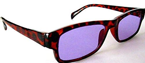Devardi Glass Didymium Safety Glasses for Lampwork, Beadmaking, L Red PT-2