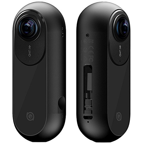 Insta360 ONE - Cámara 360 grados deportiva, Resolución 4K, Estabilizador de imagen integrado (24Mp, conexión Bluetooth 4.0, MicroSD, Lightning), color negro
