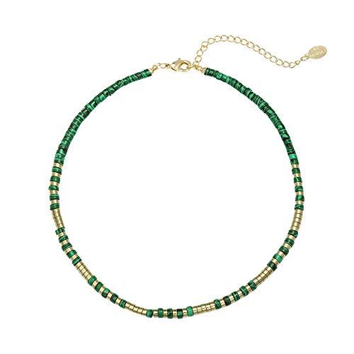 Yehwang EST. 2008 – Joyería de Moda para Mujer – Gargantilla con Piedras y Cuentas Naturales Coloridas – Collar Power to The Stone