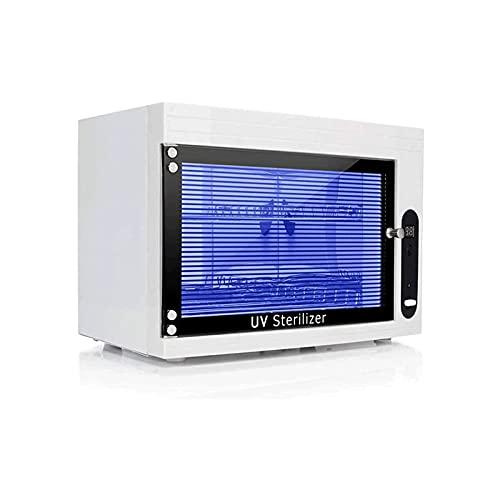 WGLL Equipo de herramientas de manicura del gabinete, gabinete de visualización de toallas de salón con DIRIGIÓ Pantalla y ajustes del temporizador automático, adecuados para el clavo de la herramient