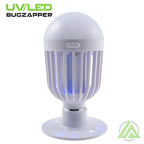 LitezAll Bug Zapper Light Bulb - 2 in 1 Portable Led Light & Bug Killer - Best for Indoor or Outdoor Use - Small or Large Insect, Mosquito & Fly Bug Zapper Bulb - 3 AAA Batteries Included