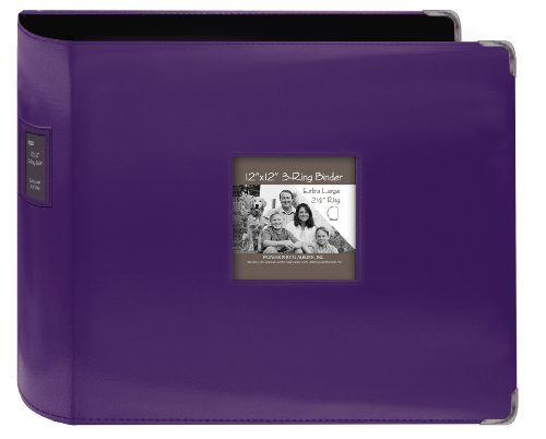 Pioneer Sewn Leatherette 3-Ring Binder 12