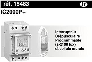 83.5 mm Hauteur 65 mm Profondeur 45 mm Largeur 10-16 A Schneider Electric 15483 IC2000P+ Interr Photosensible 230-250V
