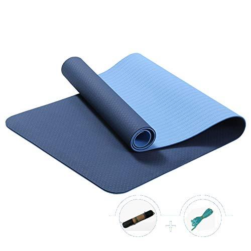 VIWIV Yujia Double Pad, Zweifarbiges, 6MM Dickes TPE-Yoga-Pad, Umweltfreundlich Und Geschmacklos, rutschfest, Pilates-Yoga-Fitness-Outdoor-Sportmatte,2