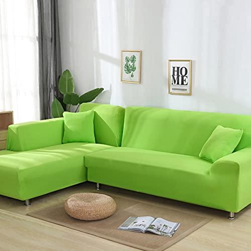 JINGQIAO Fundas de sofá de esquina sólidas, fundas de sofá, material elástico, protector de piel para mascotas Chaselong cubierta de sofá en forma de L