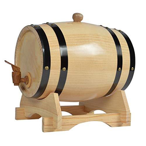 Producción de vino Barriles De Vinificación Barril De Almacenamiento De Cerveza Dispensador De Vino Bar Herramienta De Elaboración De Vino Contenedor De Bebidas (Color : Beige, Size : 50L)