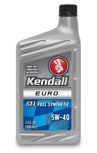 Kendall 1060743 GT-1 Euro 5W-40 Full Synthetic Motor Oil - 1 Quart