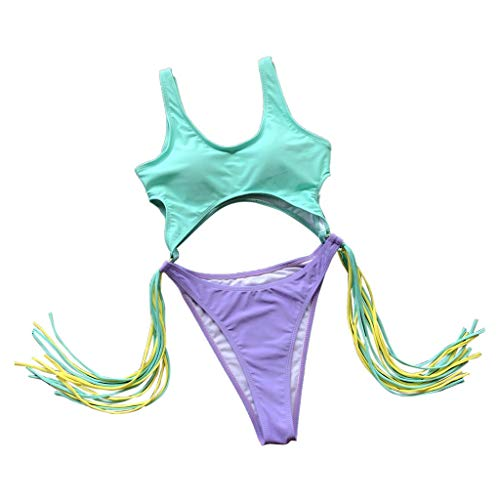 Bfmyxg Sexy Swimwear für Damen Lady Fashion Gestreifter Print Badeanzug Badeanzug Push-Up Gepolsterter BH-Overall Badeanzug Bikini Bodys Tankini Beachwear Monokini Sets