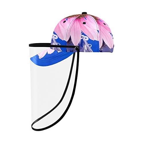 SUUJ Unisex Schutzkappe Schutzschild Hut, EIN Blumenkopf Pink Coneflower Full Hat Abnehmbare Baseballkappe Atmungsaktiver Sommerspielhut