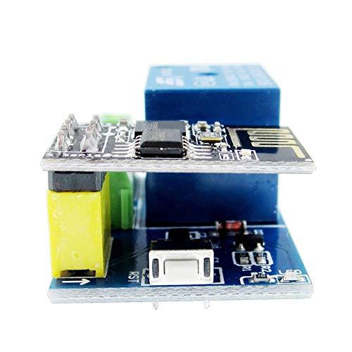 creatspaceES Esp8266 Esp-01S + 5V Módulo de relé WiFi Control Remoto Inteligente para el hogar Juego de desbloqueo Smart Socket Módulo de relé para hogar Inteligente Color