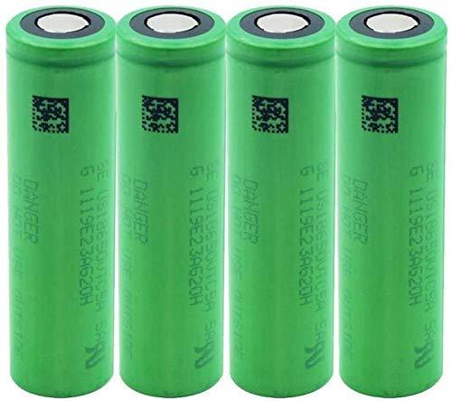 Alto Drenaje 4pcs US18650VTC5A 2600mAh VTC5A 18650 Cambio de batería Carga protegida Mini Ventilador Banco de energía Control Remoto