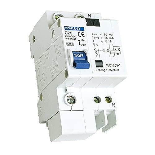 Interruptor Diferencial Residencial 1P+N 6A 10A 16A 25A 40A Para sistema solar (16A)