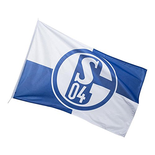 FC Schalke 04 Hissfahne Flaggen/Fahnen, Mehrfarbig, 250 x 150 cm