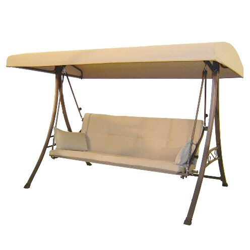 Garden Winds 3-Person Futon Swing Replacement Canopy Top Cover