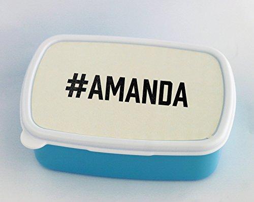 Caja de almuerzo azul de la marca AMANDA