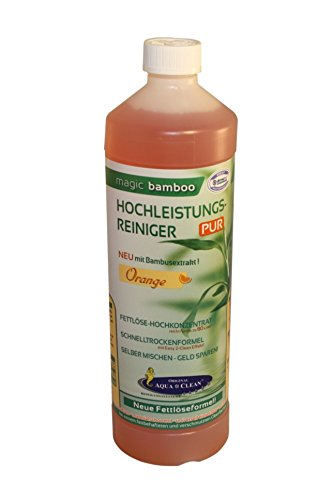 AQUA CLEAN Magic Bamboo Hochleistungsreiniger 1l Hochkonzentrat (Orange)