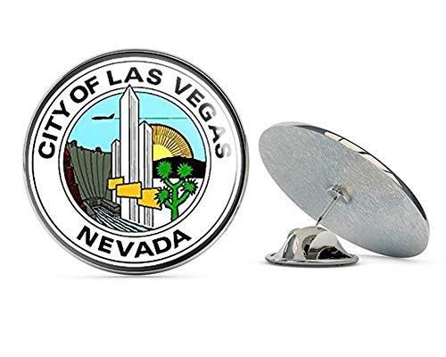"NYC Jewelers City of Las Vegas Nevada Seal (Logo) Metal 0.75"" Lapel Hat Pin Tie Tack Pinback"