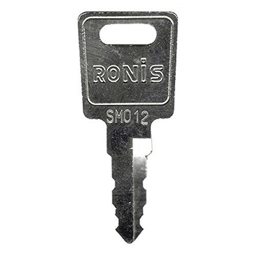 RONIS LAS Ersatzschlüssel SM - Schließung SM 001 bis SM 550 - Nachschlüssel - Zusatzschlüssel - u.a. auch für KfZ-Tankverschlüsse - Schließung SM300