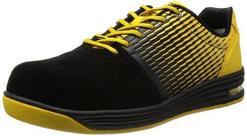 [ミドリ安全] 安全作業靴 JSAA認定 エアクッション付き プロスニーカー WPA110 メンズ ブラック&イエロー 23.5 cm 3E