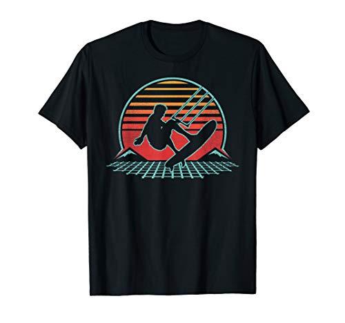 Kiteboarding Retro Vintage 80s Kiteboarder Gift T-Shirt
