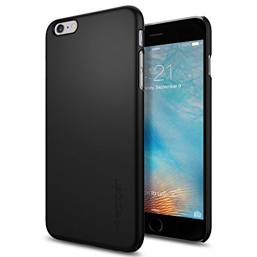 Spigen SGP11732 Thin Fit Hybrid Kompatibel mit iPhone 6S Plus Hülle, Premium Hart-PC Schlanke Schutzhülle für iPhone 6/6S Plus Case Schwarz