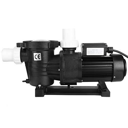 Bomba de filtro para piscina, bomba de circulación, flujo máximo 16,5 m³/H, 735 W, ABS, funcionamiento silencioso (EU 220 V)