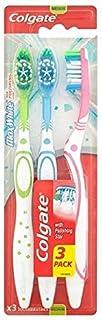 [Colgate ] コルゲート最大白色メディア歯ブラシ3パック - Colgate Max White Medium Toothbrush 3 Pack [並行輸入品]