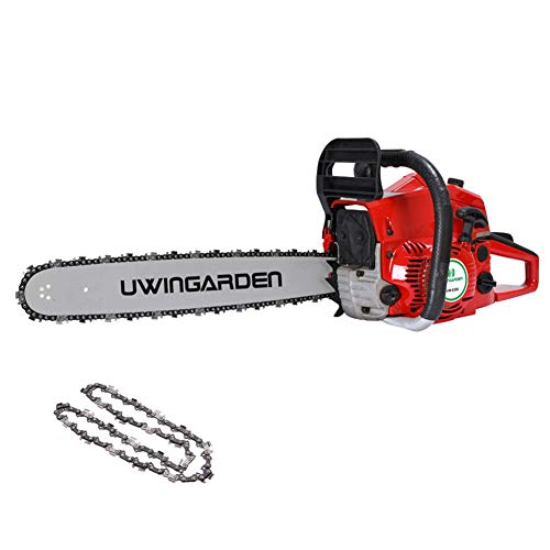 UWINGARDEN Petrol Chainsaw, Saving Oil Up to 50%, 62CC, 20' Professional Handed Chain Saw, Recoil...