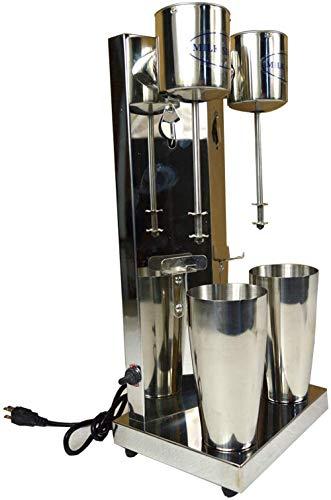 INTBUYING Dual Head Milkshake Maker Stainless Steel Smoothie Mixer Blender Cocktail DrinkMaster Mixer