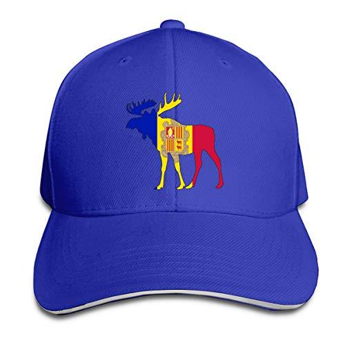 SFT Unisex Andorra Flags Moose Fashion Peaked Cap Baseball Cap for Travel/Sports