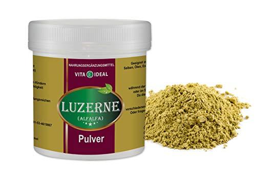 VITAIDEAL ® Alfalfa Luzerne Kraut PULVER 100g (Medicago sativa) + Messlöffel von NEZ-Diskounter