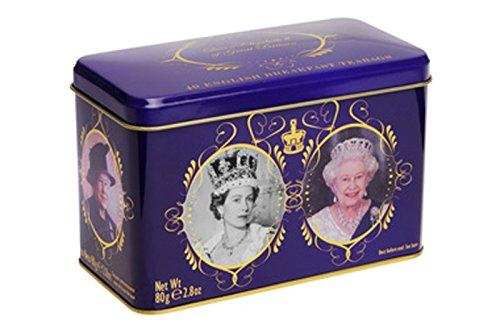 Inglés té, English Breakfast té lata Queen Elizabeth