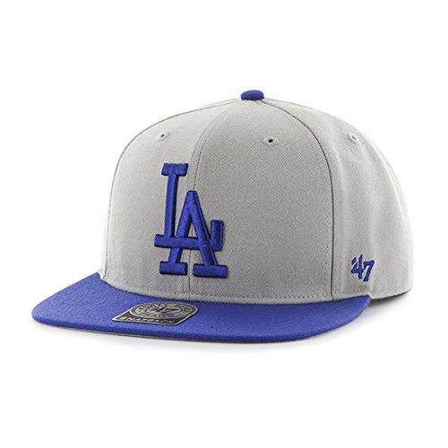 47 MLB Los Angeles Dodgers Sure Shot 2 Tone Captain Casquette de Baseball, Gris (Grey/Royal), Taille Unique Mixte