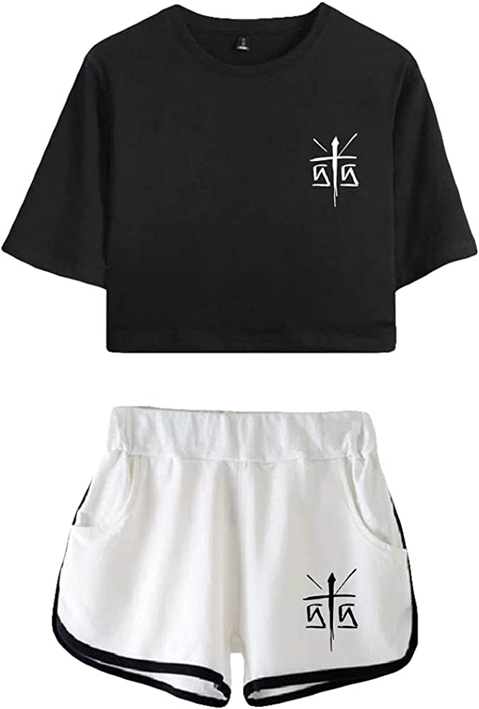 Tydres Gera MX 2 Piece Sets Casual Two Piece Suit Woman Girls Short & Tops Suit Singer Short Sleeve (BW-KB03586,XS)